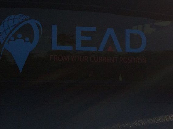leadership slogan truck decal