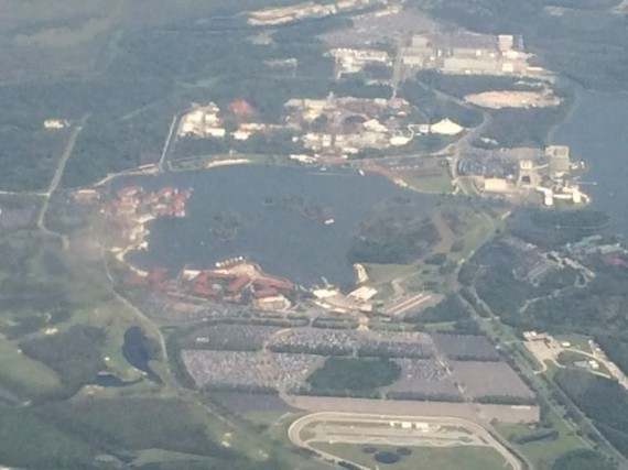 Magic Kingdom Resort area from Delta Jet