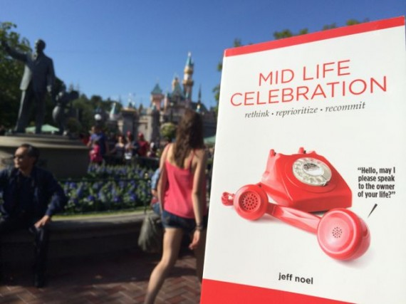 Mid Life Celebration book at Disneyland