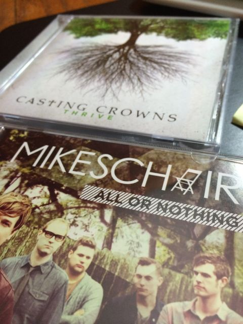 Mike's Chair and Casting Crown CDs