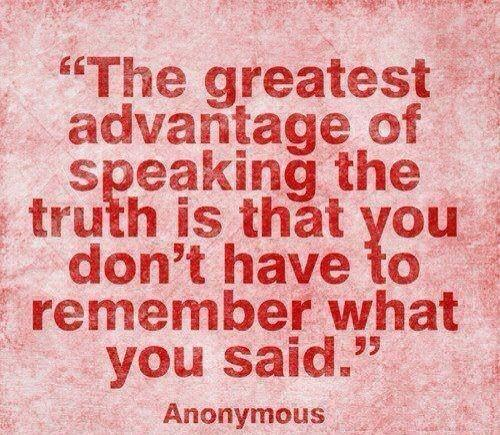 Quote about telling the truth