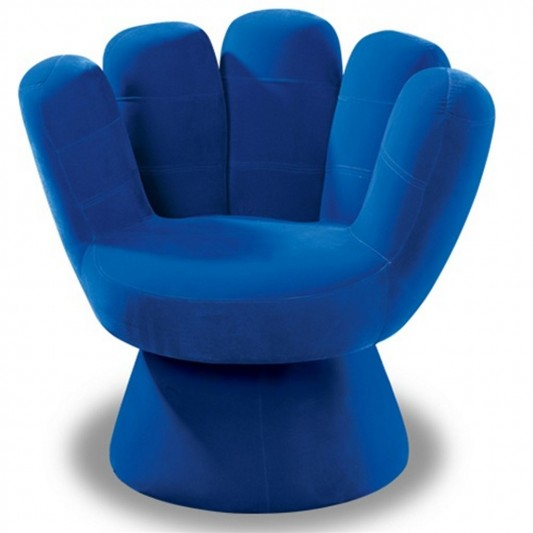 blue finger chair