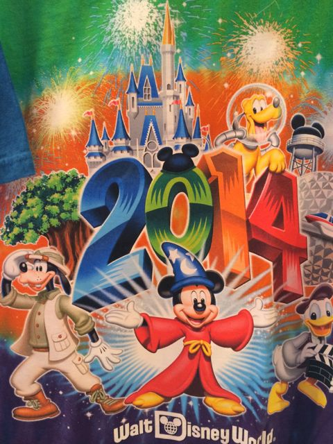 Walt Disney World 2014 tee shirt