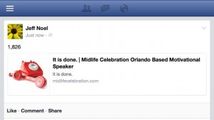 orlando motivational speaker's personal Facebook update