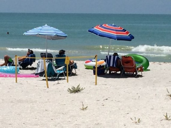Sanibel Island Beach umbrellas