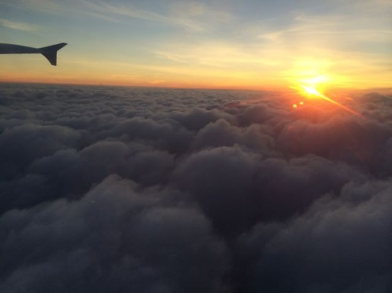 Orlando Sunrise from aircraft