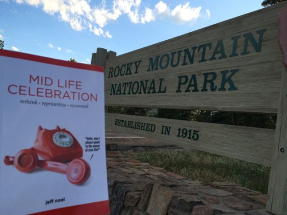 Mid Life Celebration book at Rocky Mountain National Park