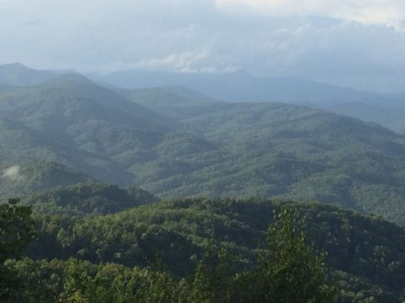 Blue Ridge Mountains East of Asheville