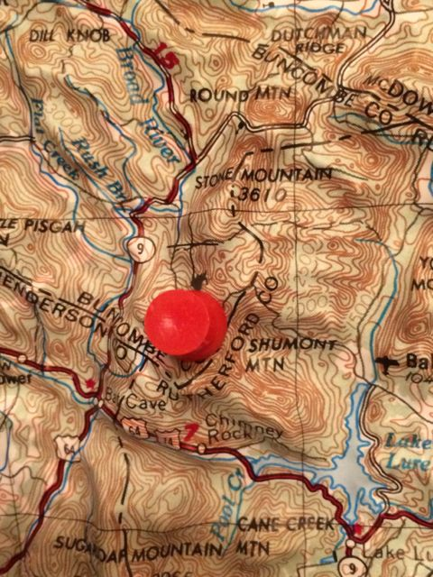 Topographical map of Asheville, NC