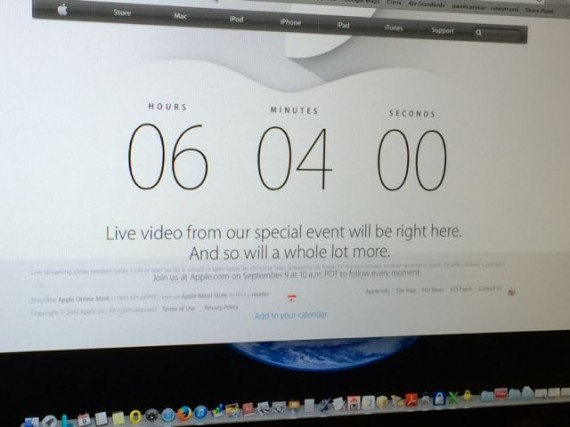 Apple countdown to iPhone 6