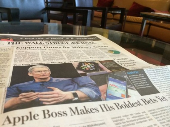 Apple iPhone 6 makes front page news