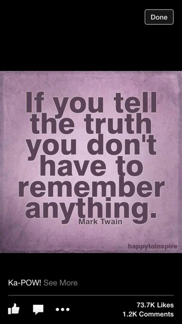 Mark Twain quote about telling  the truth