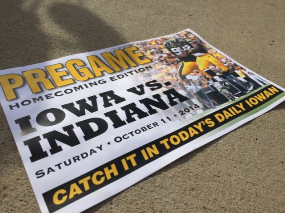 University of Iowa Homecoming 2014 sign
