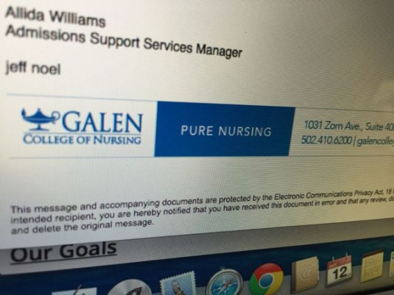 Galen College of Nursing email tag line
