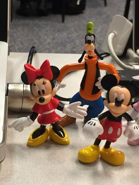 Small plastic Disney character toys