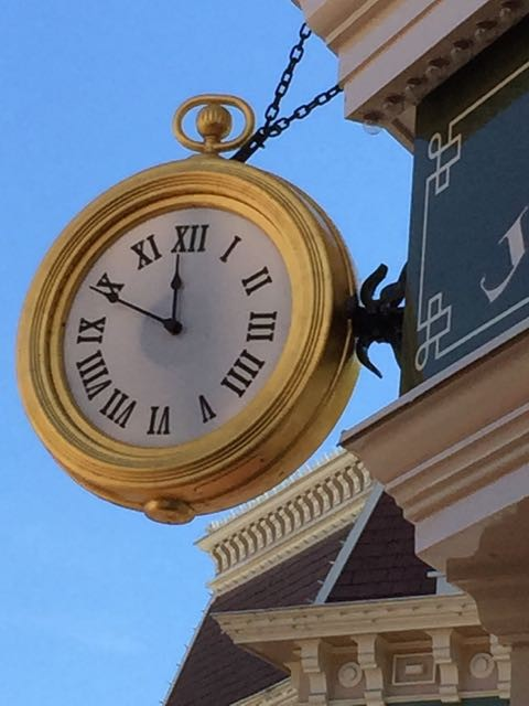 Disneyland Main Street Clock
