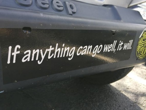 Motivational bumper sticker