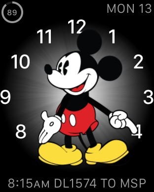 Apple Watch Mickey Mouse watch face