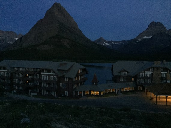 Many Glacier Hotel Lake view room