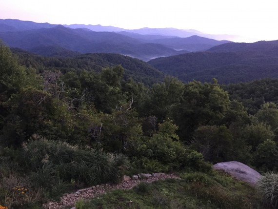 North Carolina mountain top cabin view