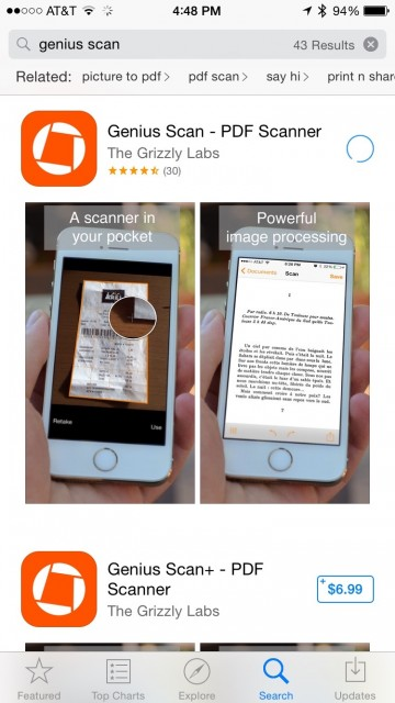 Genius Scanner mobile app