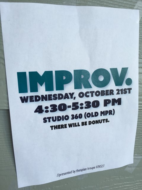 High School Improv event poster