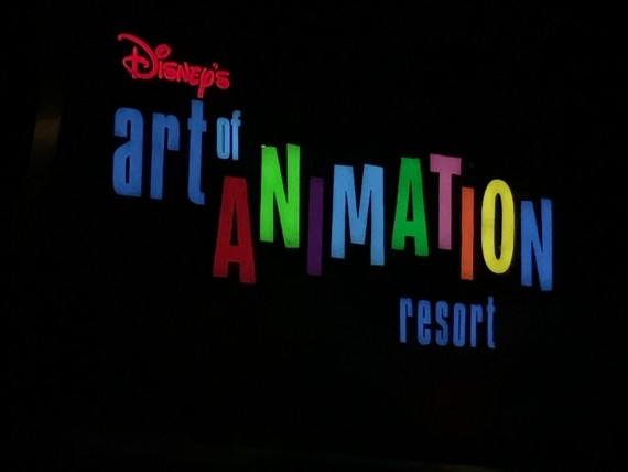 Disney's Art of Animation Resort entrance sign