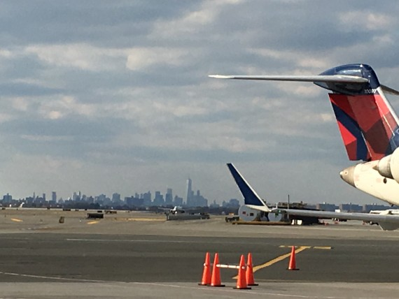 Freedom Tower from JFK tarmac.