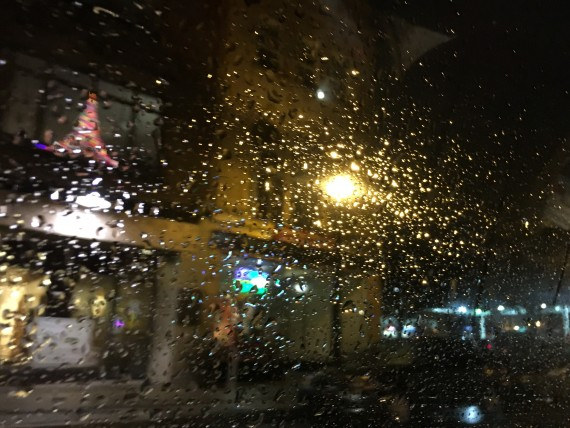 Rainy, cold night in Bethlehem, PA
