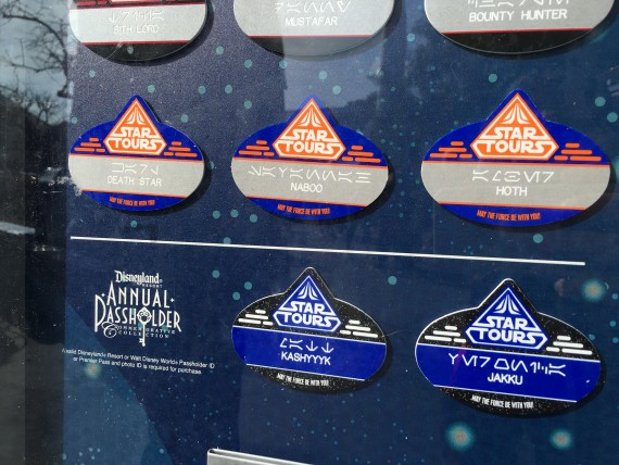 Disneyland Star Wars name tags