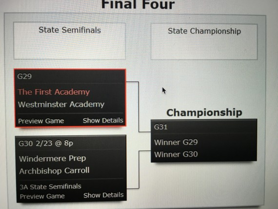 Florida High School 3A Basketball final four