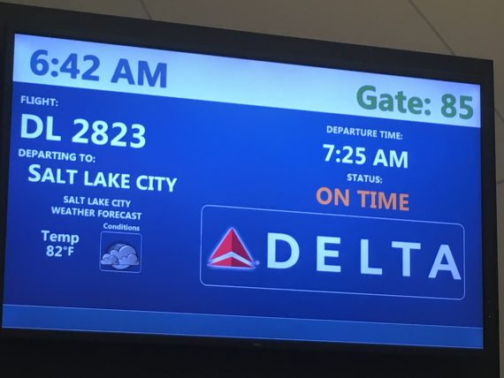 Delta flight info board
