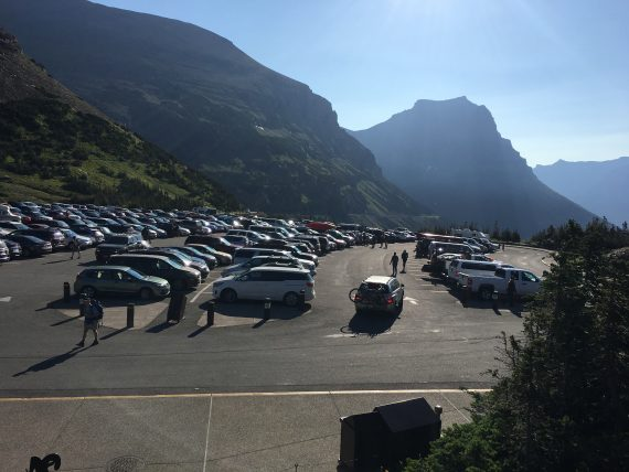 Logan Pass parking