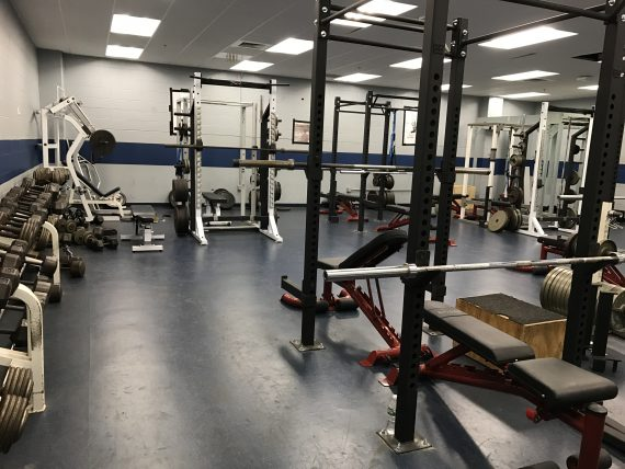 Allentown Dieruff High School weight room
