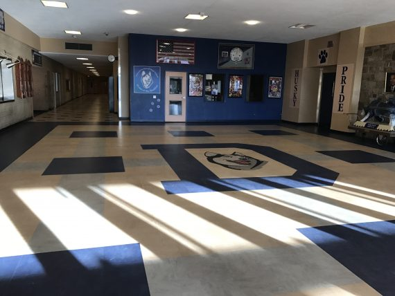 Allentown Dieruff High School lobby