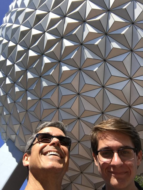 Father and Son at Epcot