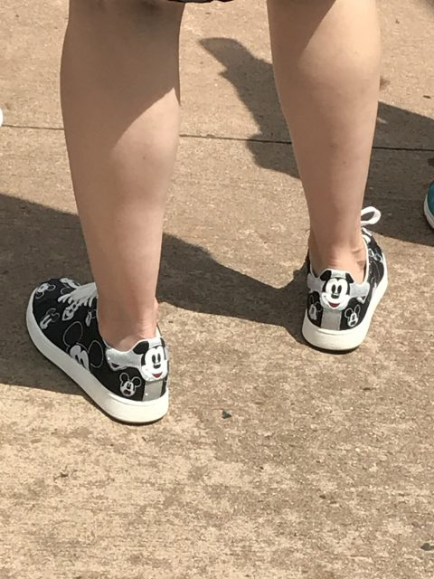 Mickey Mouse tennis shoes